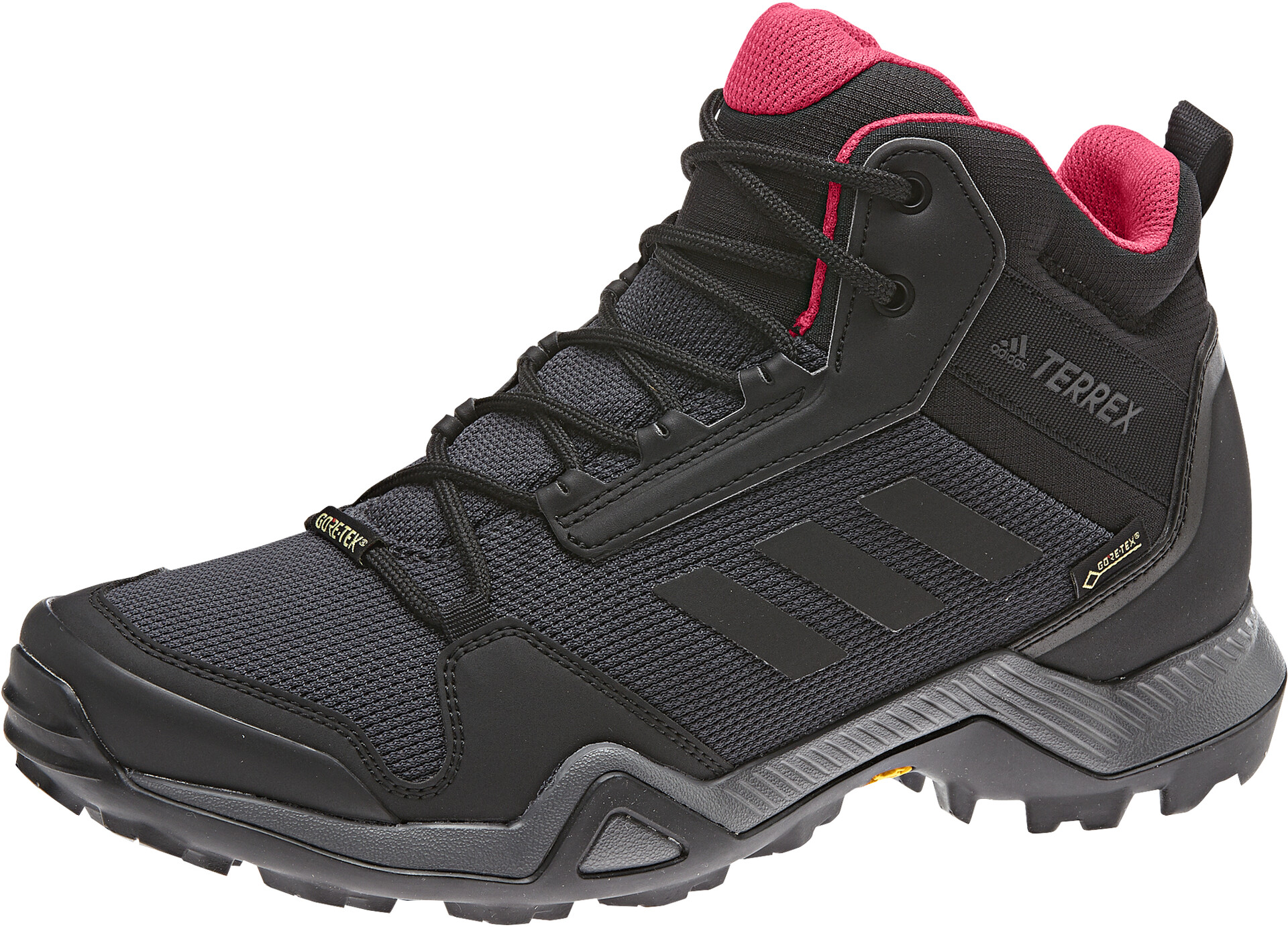 adidas TERREX AX3 Mid Gore-Tex Hiking Shoes Women carbon/core black/active  pink